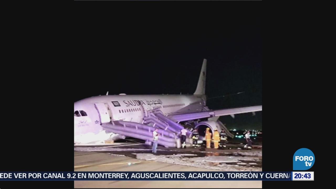 Aterrizaje de emergencia deja 53 heridos en