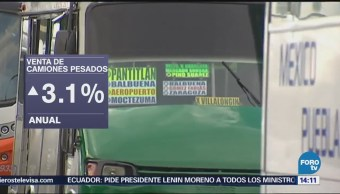 Aumenta Abril Venta Camiones México