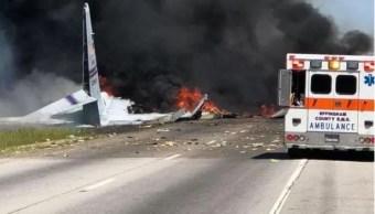 Avión militar de EU se estrella en Savannah, Georgia; hay dos muertos