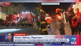 Bomberos controlan incendio en Iztapalapa