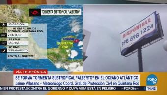 Tormenta Alberto Afecta Centro Norte Quintana Roo