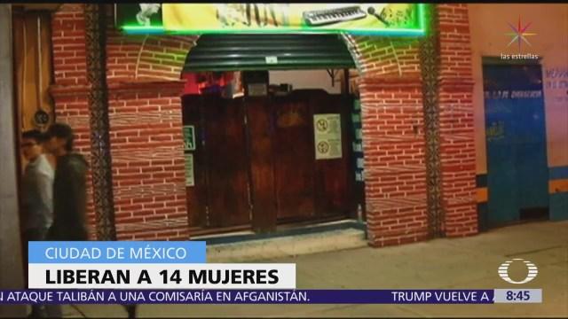 Catean bares en Tláhuac y liberan a 14 mujeres