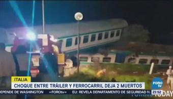 Choque Tráiler Tren Deja Muertos Italia