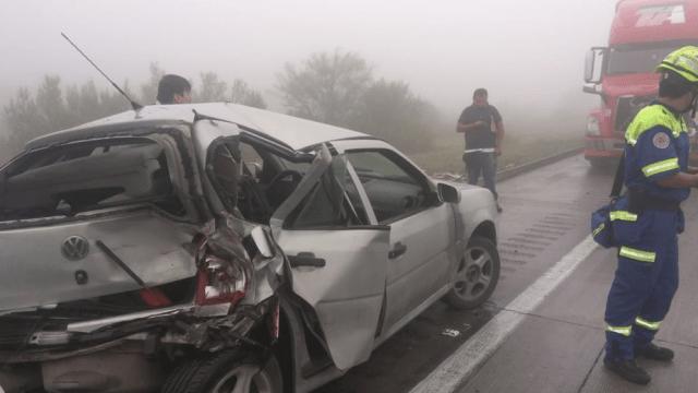 Neblina causa choque entre 15 vehículos en autopista Saltillo-Monterrey