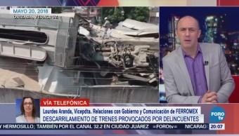 Continúa Retiro Vagones Descarrilados Orizaba Veracruz