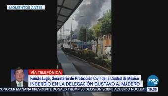 Controlan Incendio Fábrica Gam Fausto Lugo, Secretario De Protección Civil De La Ciudad De México
