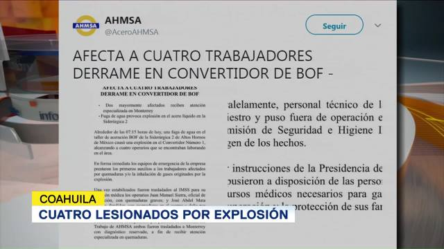 Cuatro Lesionados Explosión Coahuila
