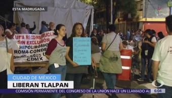 Damnificados del 19S liberan vialidad en Tlalpan