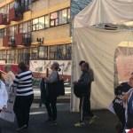 Alerta sísmica sorprende a damnificados del multifamiliar de Tlalpan