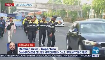 Damnificados del sismo del 19-S marchan s