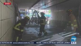 Derrumbe de estructura en desnivel de Viaducto deja varios lesionados