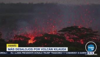 Desalojan Miles Nuevas Fisuras Volcán Kilauea,