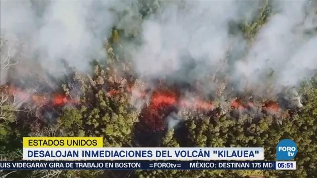 Desalojan inmediaciones del volcán Kilauea