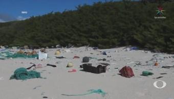 Desechos Plástico Flotan Caribe