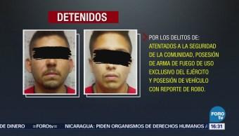 Detienen Dos Presuntos Delincuentes Reynosa, Tamaulipas