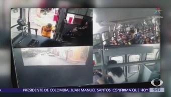 Difunden en redes sociales asalto a camión urbano de Monterrey