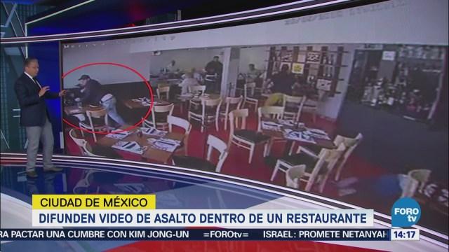 Difunden Video Asalto Restaurante CDMX
