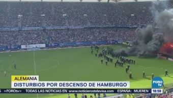 Disturbios Descenso Hamburgo Alemania Bundesliga Futbol