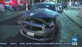 Dos lesionados en accidente vehicular en la avenida Cuauhtémoc, CDMX