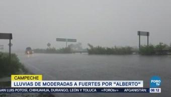 Paso Tormenta Tropical Alberto Quintana Roo