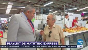 Rivera presenta el Playlist de Matutino Express