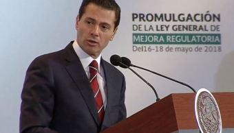 EPN encabeza la promulgación de la Ley General de Mejora Regulatoria
