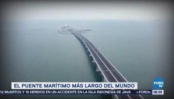 El puente marítimo más largo del mundo está en China