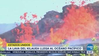 En Hawái, la lava del volcán Kilauea llega hasta el océano Pacífico