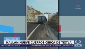Encuentran 9 cadáveres en el libramiento a Tixtla, en Guerrero