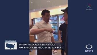 Enfurece por escuchar a empleados hablando español