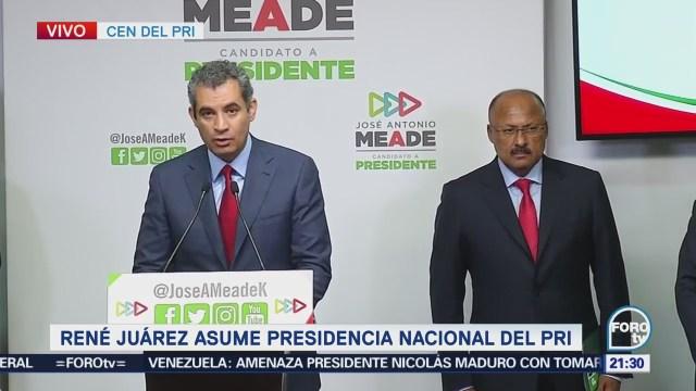 Enrique Ochoa Deja Dirigencia Nacional PRI Rene Juárez Cisneros