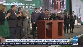 Enrique Peña Nieto Promulga Ley General De Mejora Regulatoria