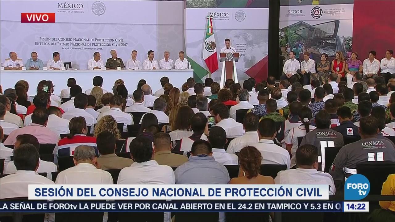 Epn Encabeza Sesión Consejo Nacional Protección Civil