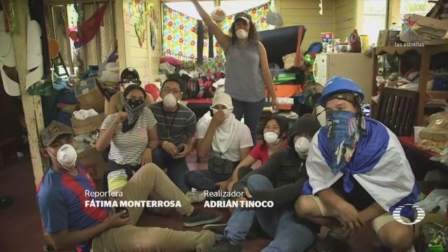 udiantes Nicaragua permanecen atrincherados Universidad