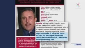 EU ofrece recompensa por miembro del cartel de Sinaloa
