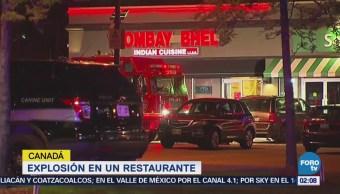 Explosión en restaurante de Toronto deja
