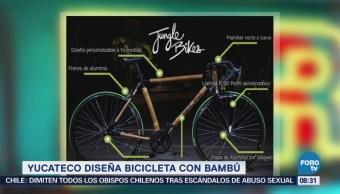 Extra Extra: Yucateco diseña bicicleta con bambú