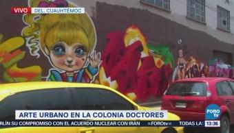 Florece arte urbano en calles de la colonia Doctores