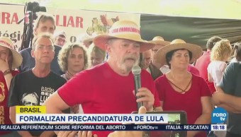 Formalizan Precandidatura Lula Da Silva En Brasil
