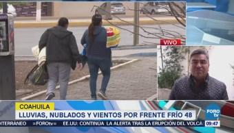 Frente Frío 48 mantiene lloviznas dispersas en Coahuila