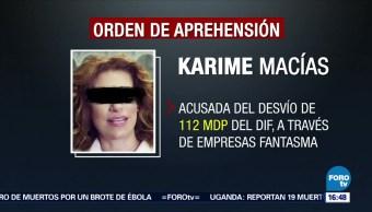 Giran Orden Aprehensión Contra Karime Macías Veracruz