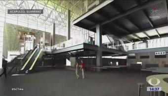 Guerrero Inaugura Terminal Aérea Ampliada