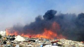 Se registra incendio en basurero de Huatabampo Sonora