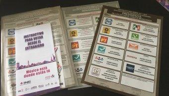 INE reconoce error paquetes voto extranjero