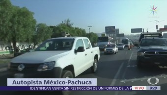 Instalan filtro de seguridad en la carretera México-Pachuca