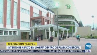 Intento de asalto en joyería dentro de plaza comercial en Tlalpan