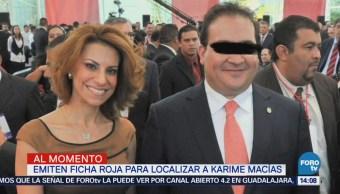 Interpol Francia Emite Ficha Roja Localizar Karime Macías