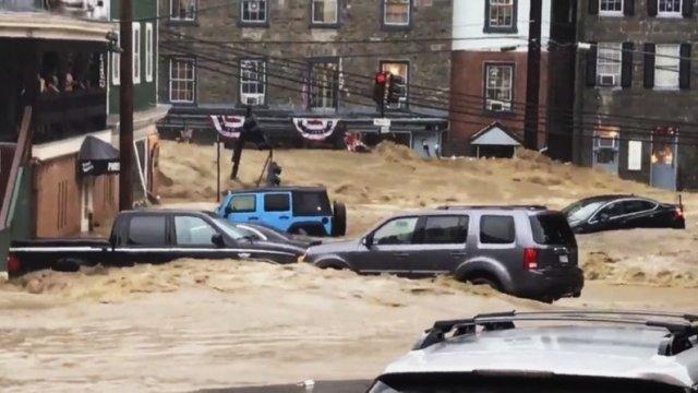 Inundaciones en Maryland dejan un desaparecido y daños