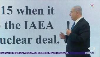 Israel presenta pruebas contra Irán
