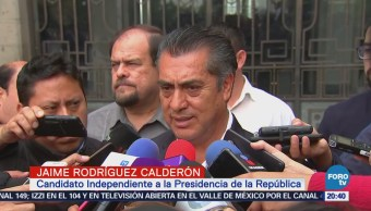Jaime Rodríguez El Bronco pide mejorando